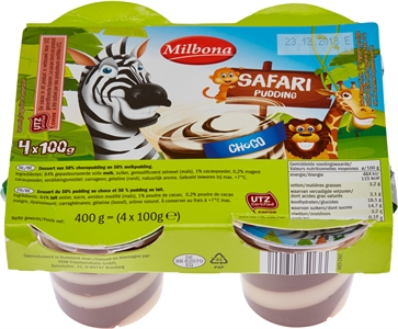 MILBONA (LIDL) Safari Pudding Choco