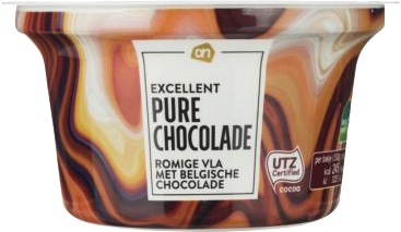 ALBERT HEIJN EXCELLENT Pure chocolade romige vla