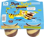 BONI SELECTION (COLRUYT) Duo Twist pudding vanillesmaak chocolade